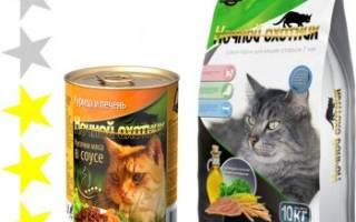 Обзор корма для кошек Ночной охотник