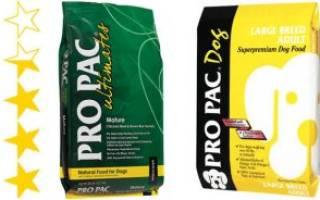 Обзор и отзывы  корма для собак PRO PAC
