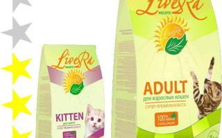 Обзор корма для кошек LiveRa