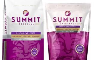 Обзор корма для кошек Summit
