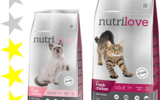 Обзор корма для кошек Nutrilove